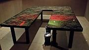대형 ㄷ자 테이블 2개 좌우2300 벽2100