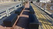 대기석 방염 쇼파 24개 방염 블랙 네자원단/높이420/길이460