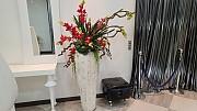 석회암 화병 2개 화분높이1050 상부꽃높이1800