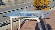 유리 테이블 가로1300 세로600  높이800 (10파)