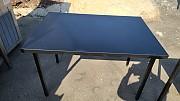 블랙 사각 테이블 1100x 3개